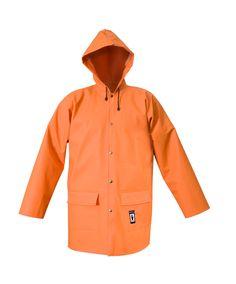 VESTE DE PLUIE IMPERMÉABLE 3/4 Modèle: 101 La veste possède la fermeture à boutons pression, une capuche fixe et 2 poches soudées sous pattes. Le modèle est fabriqué en tissu imperméable appelé Plavitex, qui est recommandé à l'usage dans des conditions météorologiques défavorables. La veste protège contre le vent et contre la pluie. Les soudures bilatérales haute fréquence augmentent la résistance des coutures. Le produit est conforme aux normes EN ISO 13688 et EN 343.
