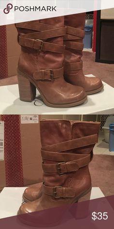 Boots Tan Jessica Simpson 8M mid calf boots, style: JS-TYLERA Jessica Simpson Shoes Heeled Boots