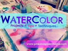 Pink and Green Mama: Favorite Watercolor Projects For Kids