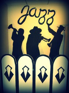 Murder At The Juice Joint - Decorations and info about speakeasy