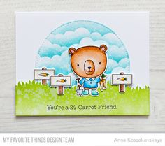 Rooting for You Stamp Set and Die-namics, Animal Farm Stamp Set and Die-namics, Stitched Arch STAX Die-namics, Grassy Hills Die-namics, Mini Cloud Edges Stencil - Anna Kossakovskaya  #mftstamps