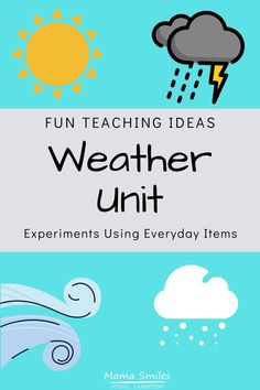 Weather For Kids, Weather Activities For Kids, Teaching Weather, Weather Unit, Science For Kids, Teaching Kids, Earth Science, Weather Crafts, Weather Kindergarten