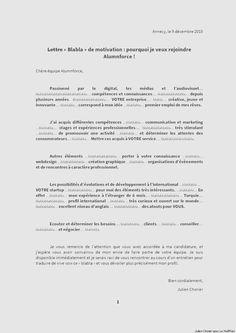 """Une lettre de motivation """"Blabla"""" très originale et efficace - Lettres de Motivation - Le Parisien Etudiant"""