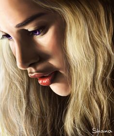 Emilia Clarke as Daenerys Targaryen in GOT by ShanaGourmet.deviantart.com on @deviantART