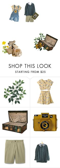 """""""let's go on an adventure"""" by elanorbrooke ❤ liked on Polyvore featuring Holga, Lands' End and PRIVATE LIVES"""