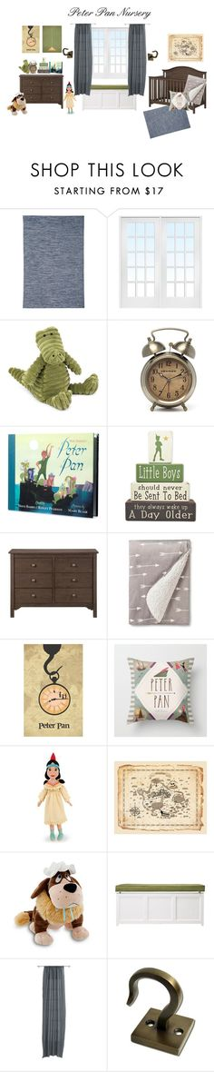 """Peter Pan Nursery"" by krisannebaker on Polyvore featuring interior, interiors, interior design, home, home decor, interior decorating, Signature Design by Ashley, Jellycat, Martha Stewart and CB2"