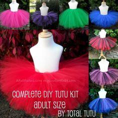 ADULT Make a Tutu Kit No Sew Choose Your Colors by totaltutu, $25.00