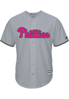 reputable site f6944 ea245 Phillies Mens Majestic Replica 2017 Mother s Day Jersey Pink Mens Clothing,  Men s Clothing, Mens