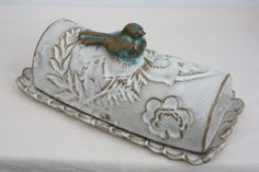Butter Dish with Bird. $45.00, via Etsy.