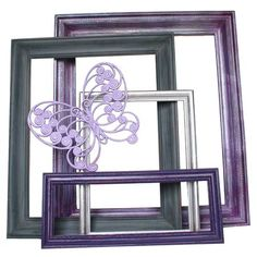 Up-cycled open back frames - love these colors.
