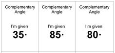 Complementary and Supplementary angle task cards Task Cards, Mathematics, Angles, Math