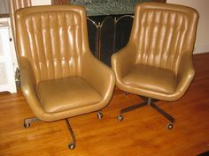 2 Vintage Executive Office Chairs