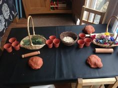 """Play dough, seeds & flowers at Cathy's Childminding ("""",)"""