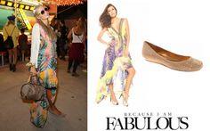 Shop Celebrity Closet: Paris Hilton Parides Hi Low Palm Dress & BCBG Max Azria Misha Flat - http://www.becauseiamfabulous.com/2014/04/paris-hilton-parides-hi-low-palm-dress-bcbg-max-azria-misha-flat/