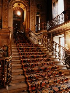 Stairway, Chatsworth House, Derbyshire, England