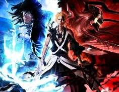 True power comes with acceptation of who we really are, and Ichigo accepted that he is a Shinigami, Quincy and Hollow. This drawing was made by: Maithagor. If you like the anime & video games, you. Bleach Manga, Ichigo Manga, Ichigo E Orihime, Bleach Ichigo Bankai, Manga Anime, Bleach Fanart, Fanarts Anime, Anime Characters, Bleach Ichigo Hollow