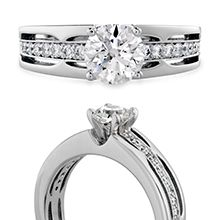 Copley Triple Row HOF Engagement Ring (also available in platinum)  #diamonds #CopleyCollection | heartsonfire.com