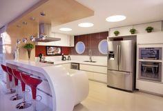 Construindo Minha Casa Clean: 10 Cozinhas Americanas com Penínsulas! Veja as Dicas e Ideias!