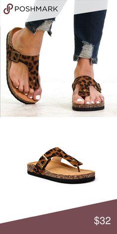 129379881dff 💕Arriving Soon 💕 T-Shaped Leopard Sandal Fun comfortable sandal arriving  just in time for spring Fits true to size Reserve-kdshenny size 9 Reserve  ...