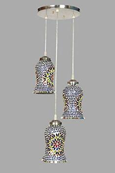 Gojanta Glass Triple Hanging Pendant Ceiling Lamp (Multicolour) #LightforRoom #HouseDecor #Lighting