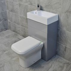 Details About Grey Cloakroom All In One Space Saving Toilet Basin Sink Unit En Suite pertaining to measurements 1800 X 1800 Space Saving Bathroom Sink - Small Downstairs Toilet, Small Toilet Room, Very Small Bathroom, Ideal Bathrooms, Small Space Bathroom, Toilet Vanity Unit, Toilet And Sink Unit, Toilet Sink, Sink Toilet Combo