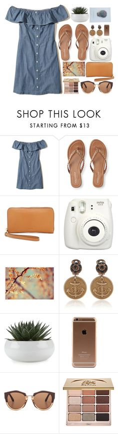 """sailor vibes"" by gatelyhawkins ❤ liked on Polyvore featuring Hollister Co., Aéropostale, FOSSIL, Fujifilm, Pottery Barn, Dolce&Gabbana, Marni and Stila"