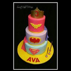 Superhero cake  www.sweetcakeomine.net
