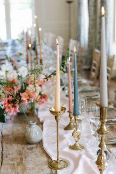 Weddings in Cornwall, Devon & Beyond — The Garden Gate Flower Company Wedding Centerpieces, Wedding Table, Wedding Decorations, Centrepieces, Candlestick Centerpiece, Flower Company, Gold Candles, Decoration Table, Beautiful