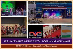 We love what we do as you love what you want...so hurry up and book your event! Da Varal Group promises you ultimate satisfaction with your event! #digitalmarketing #SEO #SMO #EducationConsultants #CoCirricular #Activities  #Workshops #music #dance #karate #sportsprogram #printmedia #flex #PR #socialevents #survey #celebrityshoot #news #authoredarticles #announcements #eventmanagement #academicecosystem #websitedesign Contact us @ 9096790294