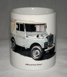 Classic Land Rover Mug. HUE 166 hand drawn by GMorganIllustration Land Rover Defender, Landing, Baby Items, Hue, How To Draw Hands, Hand Drawn, Tableware, Classic, Handmade
