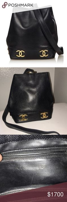 20558be6191a Authentic Chanel lambskin leather sling backpack Vintage Chanel great  vintage condition clean inside clean corner light tarnish on gold see  photos price ...