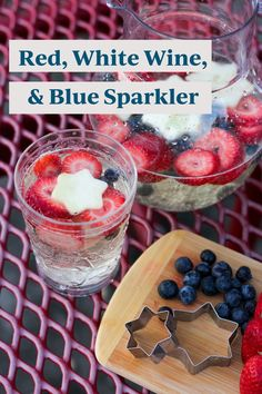 If you're throwing a 4th of July party, consider this festive wine cocktail part of your 4th of July decorations. This wine cocktail recipe is super easy to make for groups! 4th Of July Cocktails, Wine Cocktails, 4th Of July Party, Fourth Of July, Wine Spritzer Recipe, Bright Cellars, Wine Guide, 4th Of July Decorations, Shaped Cookie