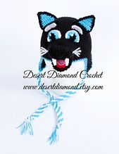 Ravelry: 106 - Sir Purr Carolina Panther Mascot Hat pattern by Desert Diamond Crochet