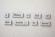 """A library is full of new worlds to travel"" #Biblioteca #DiaBiblioteca"
