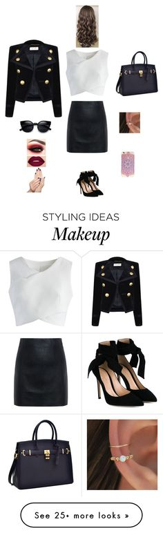 """""""K B M J G"""" by queen-kaitlyn on Polyvore featuring Chicwish, McQ by Alexander McQueen, Gianvito Rossi, Yves Saint Laurent, Smashbox and Piggy Paint"""