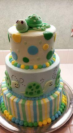 Baby Shower Turtle Cake