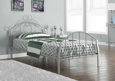 Bed - Twin Size / Silver Metal Frame Only - https://crowdz.io/product/bed-twin-size-silver-metal-frame-only-3/?pid=99JWRJRYP7Q3VM9&utm_campaign=coschedule&utm_source=pinterest&utm_medium=Crowdz