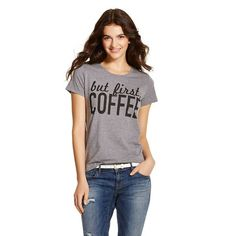 But First, Coffee Graphic Tee Heather Grey - Fifth Sun
