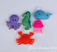 Sea Creatures Felt Finger Puppets