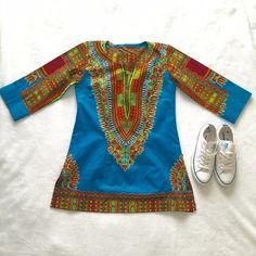 👠Custom Made Turquoise Dashiki👠 Custom Made in Nairobi Kenya you will love this turquoise dashiki Custom Made Tops Tunics