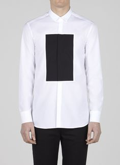 Neil Barrett  http://store.neilbarrett.com/it/e-store/mens/ready-to-wear/shirts/rectangle-block-shirt-13457.html