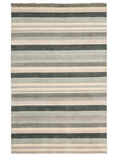 Tibetan-style Striped Hand-Knotted Rug 8x10 $699