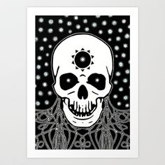 Shadow Dweller Art Print by Johannes Kamikaze - $18.00