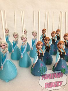 Frozen cake pops Anna Elsa