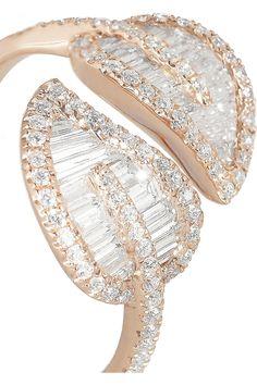 Anita Ko|Leaf 18-karat rose gold diamond ring|NET-A-PORTER.COM