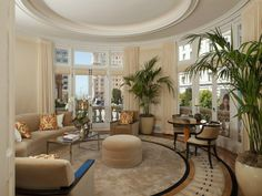 Unique Round Living Room #sothebyshomes