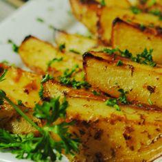 Tangy Greek Roasted Potatoes Recipe from Mamma's Recipes