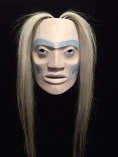 """""""The Guardian"""" by Klatle-bhi (Kwakwaka'wakw/Squamish). A stunning Westcoast Native ghost mask."""