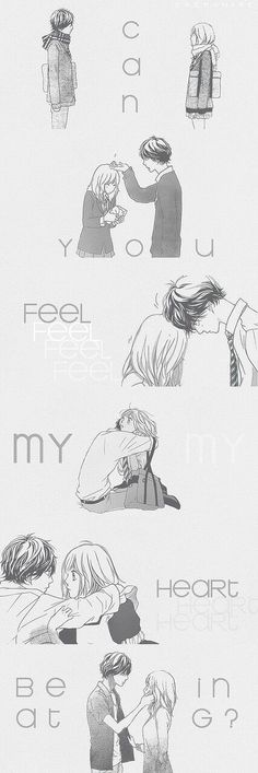Uploaded by Sarah. Find images and videos about anime, romance and ao haru ride on We Heart It - the app to get lost in what you love. Anime Qoutes, Manga Quotes, Manga Anime, Manga Love, Anime Love, Futaba Y Kou, Blue Springs Ride, Manga Couple, A Silent Voice