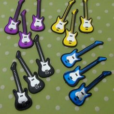 Electric Guitar Cupcake Toppers